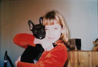 Зотова ( Галицкая) Маргарита 2004 год с французским бульдогом Пэррито