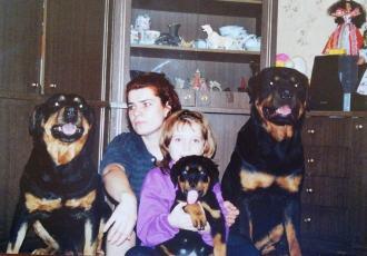 Галицкая Анна Игоревна 1999 год  фото дома с нашими ротвейлерами